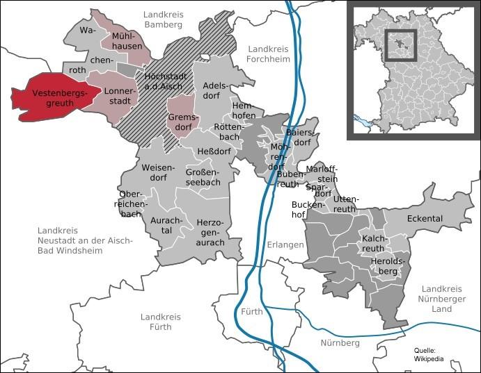 Karte Gemeinde Gremsdorf